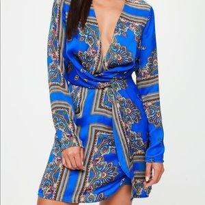 Tall silky wrap dress